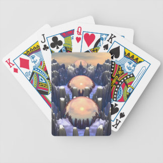 Reflection of Three Spheres Bicycle Playing Cards