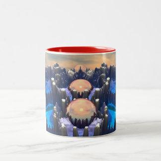 Reflection of Three Spheres Two-Tone Coffee Mug