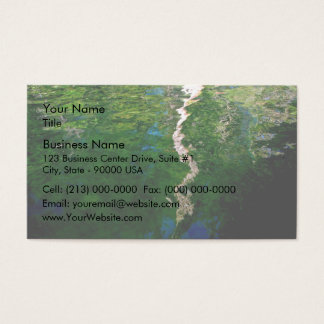 Reflection of trees in water business card