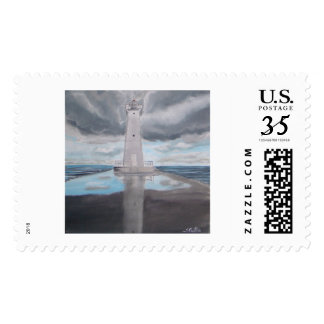 Reflection On the Pier Postage