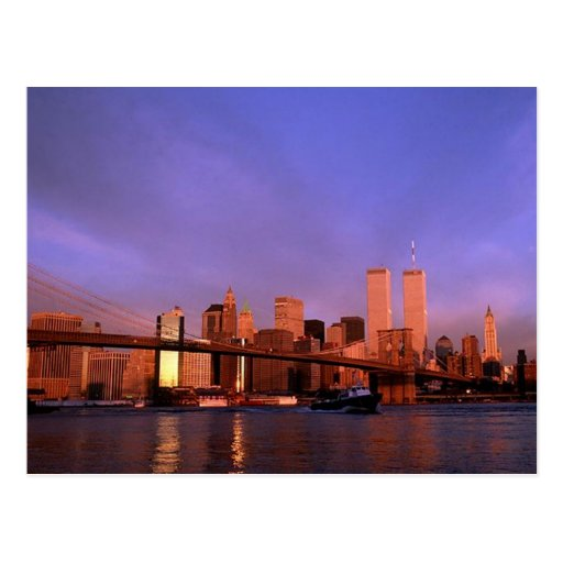 Reflection PC Twin Towers World Trade Center NYC Post Cards