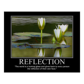 REFLECTION Poster - Lillies Motivational