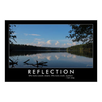 Reflection Quote Loch Raven Reservoir 48x32 Custom Poster