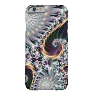Reflection Silver Spiral Fractal Barely There iPhone 6 Case