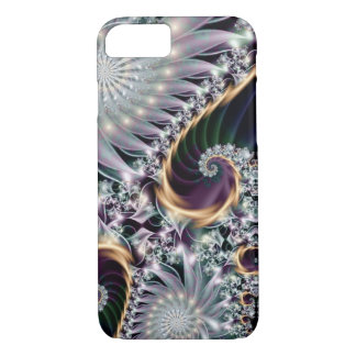 Reflection Silver Spiral Fractal iPhone 8/7 Case