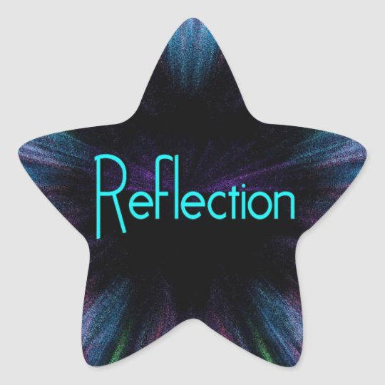 Reflection Star Sticker