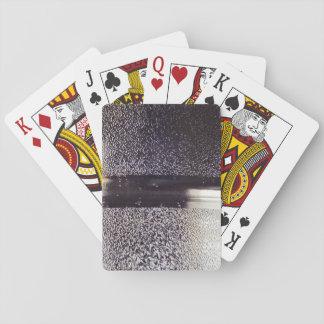 Reflection Themed, Glaring Metal Ring Texture Desi Card Decks
