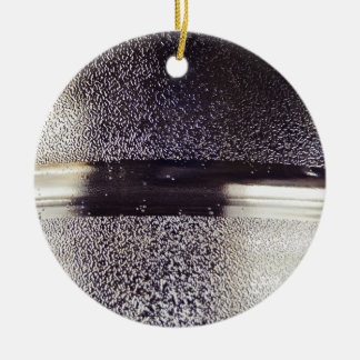 Reflection Themed, Glaring Metal Ring Texture Desi Double-Sided Ceramic Round Christmas Ornament