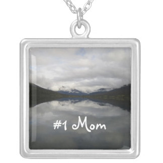 Reflection Tunnel; Happy Mothers Day Square Pendant Necklace