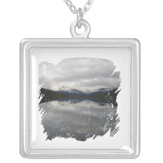 Reflection Tunnel Square Pendant Necklace