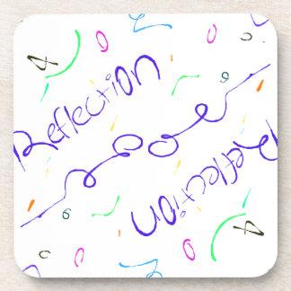 reflection word coaster