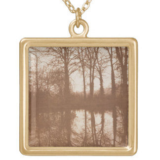 Reflections, 1843 (sepia photo) gold plated necklace
