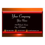 REFLECTIONS 2 AGATE monogram  black red orange Large Business Cards (Pack Of 100)