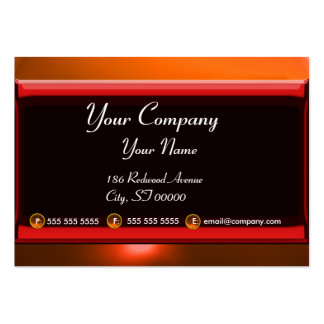 REFLECTIONS 2 AGATE monogram  black red orange Large Business Card