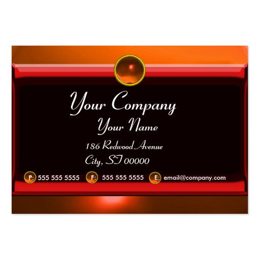 REFLECTIONS 2 AGATE monogram white black red Business Card Template