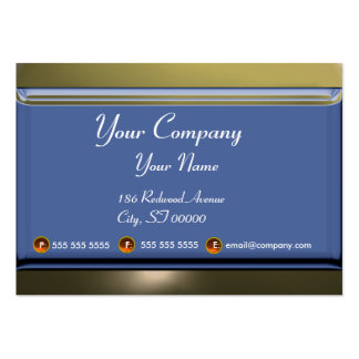 REFLECTIONS 2 AGATE monogram white blue grey Large Business Card