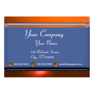 REFLECTIONS 2 AGATE monogram white blue yellow Large Business Card