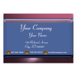 REFLECTIONS 2 AMETHYST monogram white blue purple Large Business Cards (Pack Of 100)