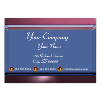 REFLECTIONS 2 AMETHYST monogram white blue purple Large Business Card