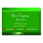 REFLECTIONS 2 EMERALD  monogram white green Large Business Cards (Pack Of 100)