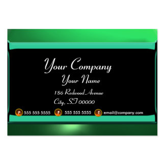 REFLECTIONS 2 JADE monogram white black green Large Business Card