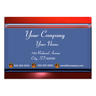 REFLECTIONS 2 RUBY monogram white blue red Large Business Card