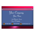 REFLECTIONS 2 RUBY monogram white blue red pink Large Business Cards (Pack Of 100)