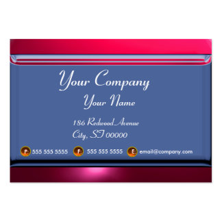 REFLECTIONS 2 RUBY monogram white blue red pink Large Business Card