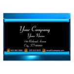 REFLECTIONS 2 SAPPHIRE monogram white black blue Large Business Cards (Pack Of 100)