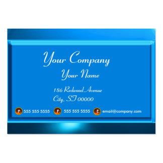 REFLECTIONS 2 SAPPHIRE monogram white blue Large Business Card