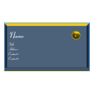REFLECTIONS 2 TOPAZ  MONOGRAM,blue black  yellow Business Card