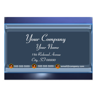 REFLECTIONS 2 TOPAZ monogram white black blue Large Business Card