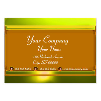 REFLECTIONS 2 TOPAZ  monogram white black yellow Large Business Card