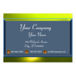 REFLECTIONS 2 TOPAZ monogram white blue grey Large Business Cards (Pack Of 100)