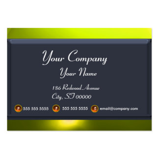 REFLECTIONS 2 TOPAZ monogram white blue grey Large Business Card