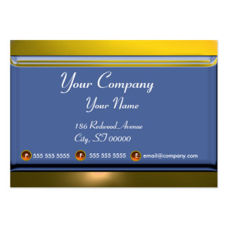 REFLECTIONS 2 TOPAZ monogram white blue yellow Large Business Card