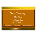REFLECTIONS 2 TOPAZ monogram white brown yellow Large Business Cards (Pack Of 100)