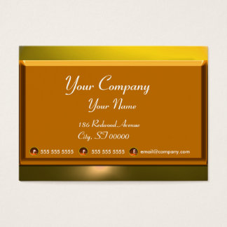 REFLECTIONS 2 TOPAZ monogram white brown yellow Business Card