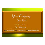 REFLECTIONS 2 TOPAZ monogram white brown yellow Business Cards