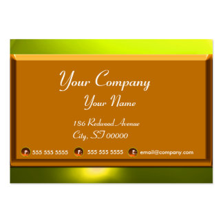 REFLECTIONS 2 TOPAZ monogram white brown yellow Large Business Card