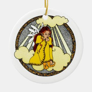 Reflections Angel Design Ceramic Ornament