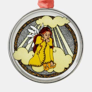 Reflections Angel Design Metal Ornament