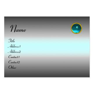 REFLECTIONS AQUAMARINE  MONOGRAM, grey white blue Large Business Cards (Pack Of 100)