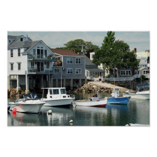 Reflections At Rockport Poster