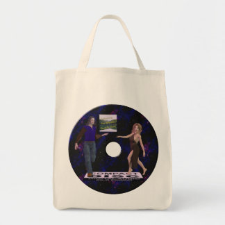 Reflections disk tote bag