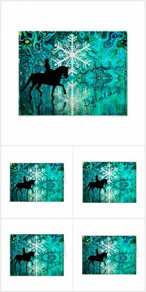 Reflections Dressage Horse Winter Snowflake Set