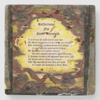 Reflections For Inner Strength Stone Coaster