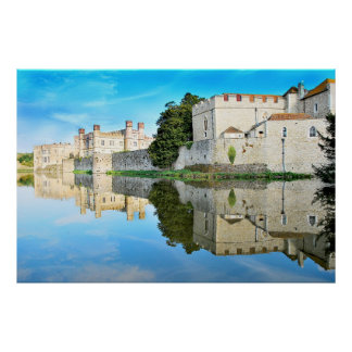 Reflections from a majestic Castle Print