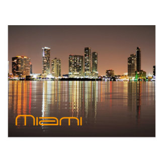 Reflections from Miami Florida, the Magic CIty Postcard