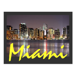 Reflections from Miami, Florida the Magic City Post Card